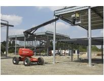 plataforma elevatória articulada a diesel na Baixada Fluminense